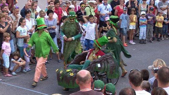 Šlapací vozítka v centru Hradce Králové